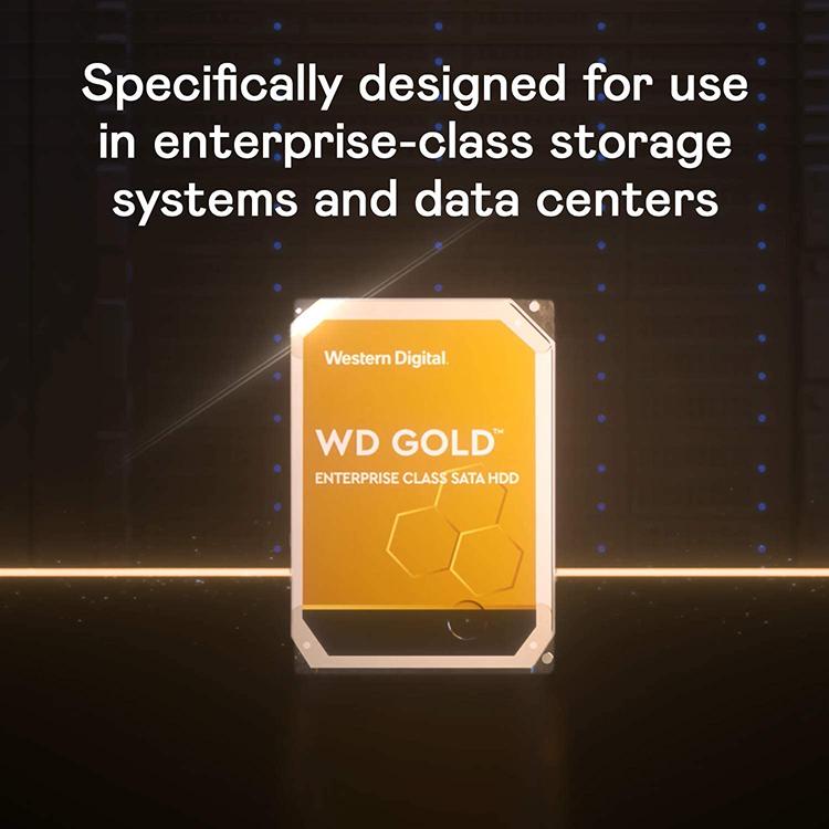 Ổ Cứng Desktop WD HDD Gold 4TB WD4003FRYZ - Hàng Chính Hãng