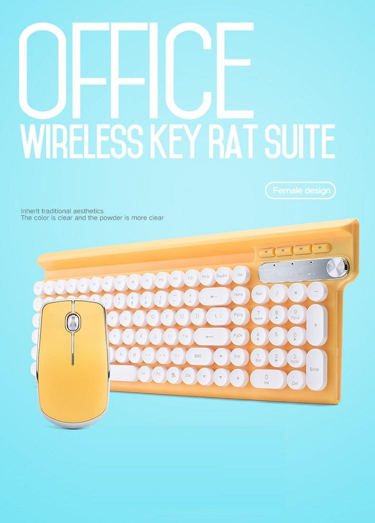 Bộ bàn phím và chuột không dây cao cấp -500 7