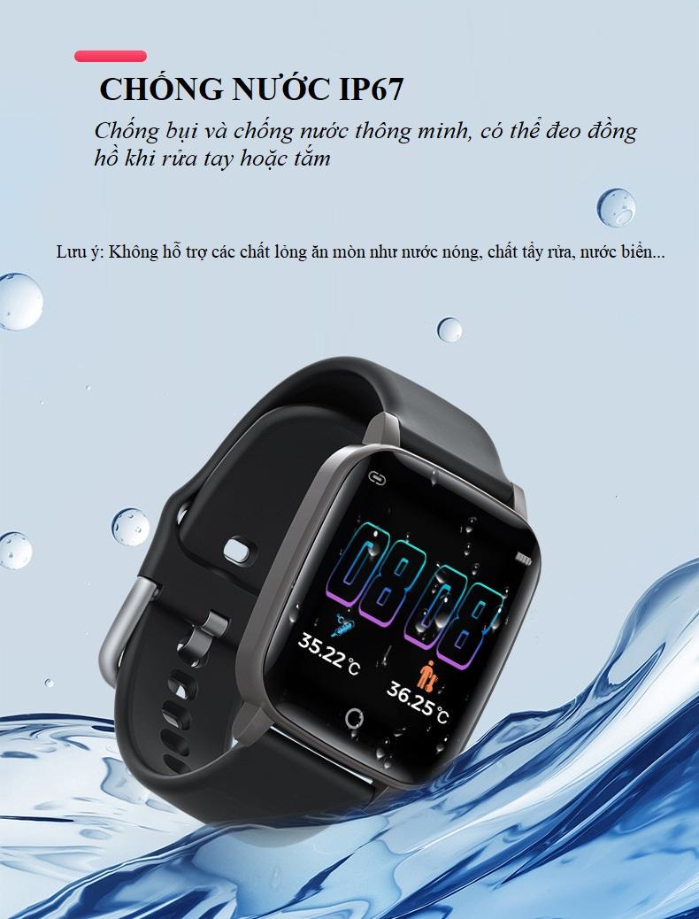 Đồng hồ theo dõi sức khỏe đa năng T_1_Q - Đồng hồ thông minh 14