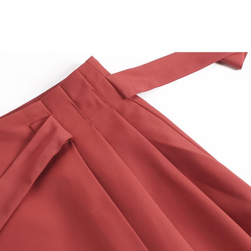Chân váy công sở đẹp Louro L702, dáng thiên chữ A, mẫu chân váy cách điệu xếp ly buộc nơ eo, cạp cao tôn dáng che bụng hiệu quả 7