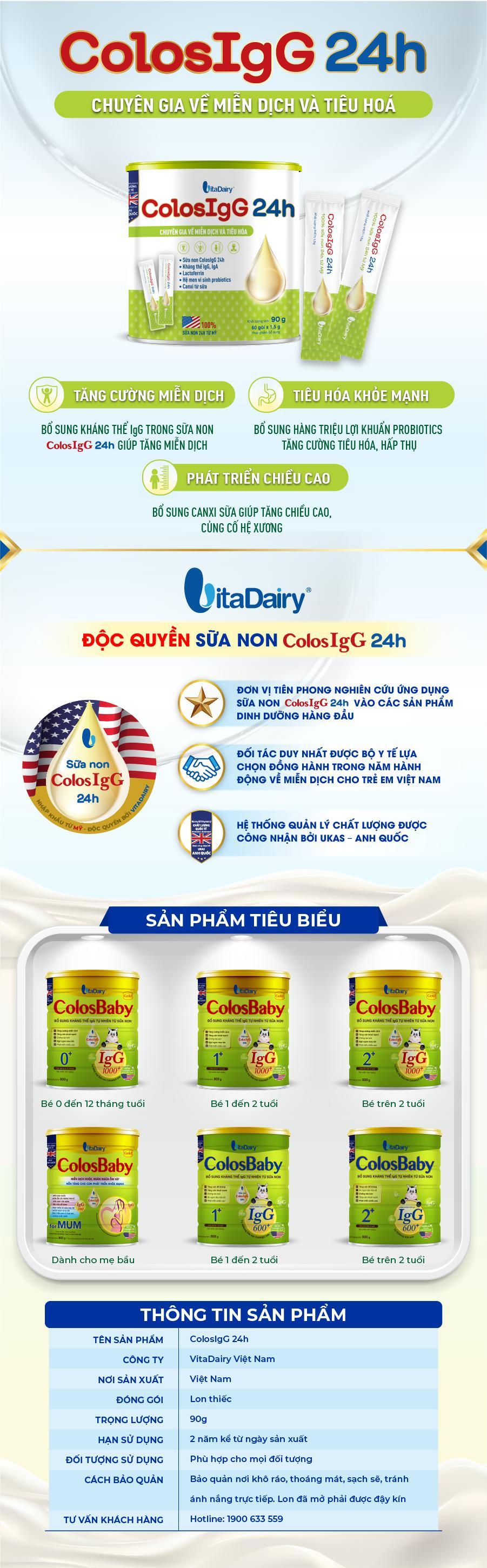 Sữa Non ColosIgG 24h Hộp 90g