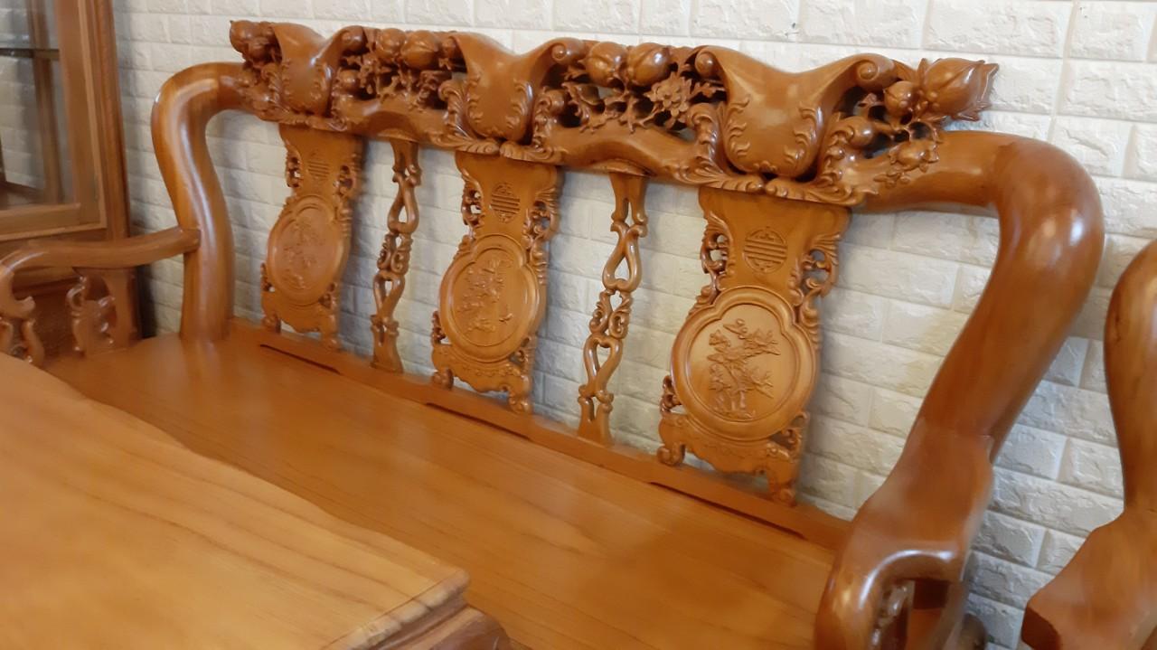 bộ sofa gỗ gõ