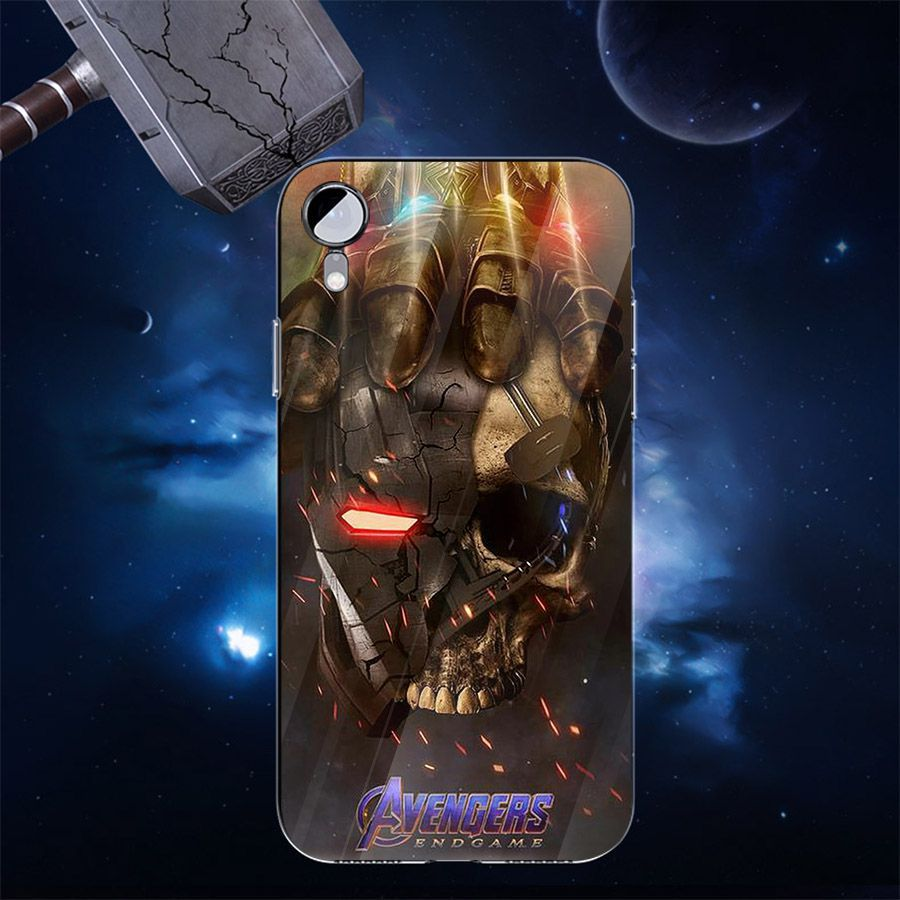 Ốp kính cường lực dành cho điện thoại iPhone XR - X/XS - XS MAX - Biệt đội siêu anh hùng - bdsah025