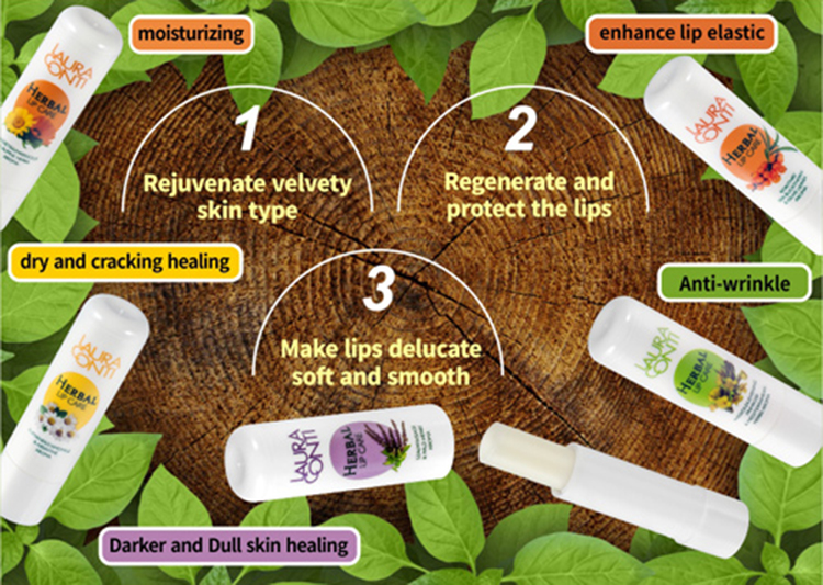 Nourishing Herbal Lip Care with Sage Extract& Wild herbs Aroma