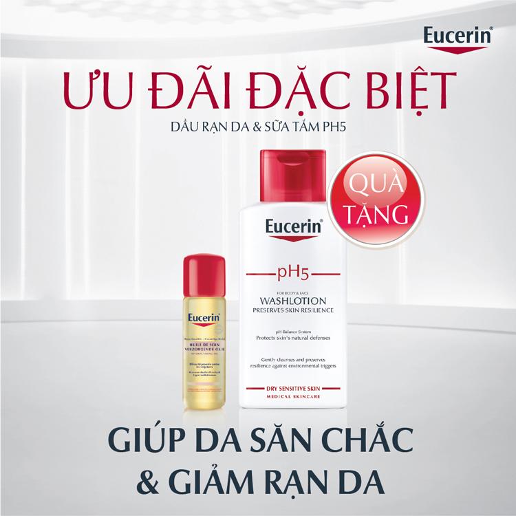 Combo Chai Dầu Rạn Da  Eucerin + Sữa Tắm Ph5  Eucerin 63178 200ml