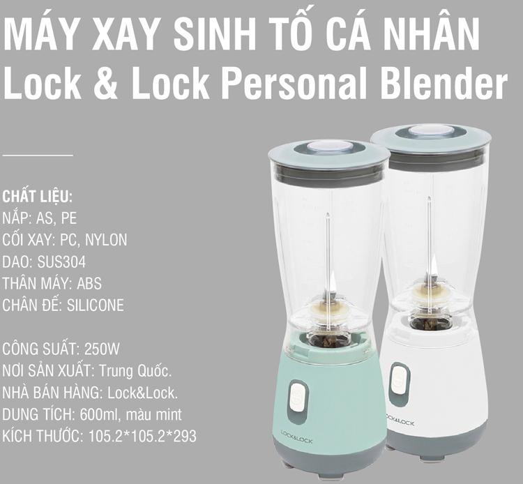 Máy Xay Sinh Tố Lock&Lock EJM436 (250W - 600ml)