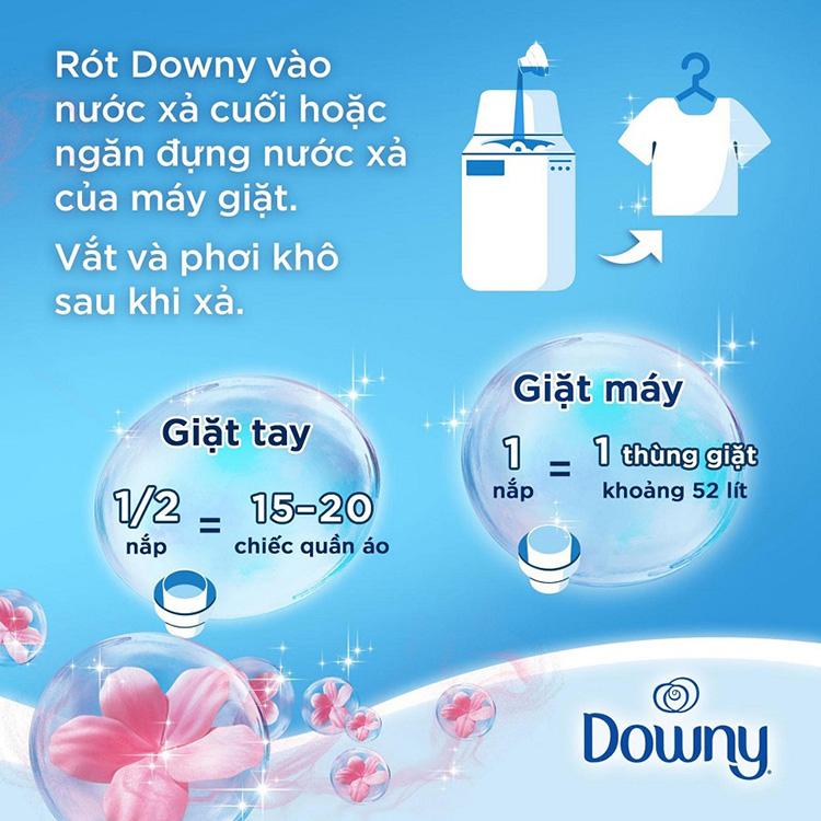 Nước Xả Vải Downy Cánh Đồng Hoa Chai 1.8L