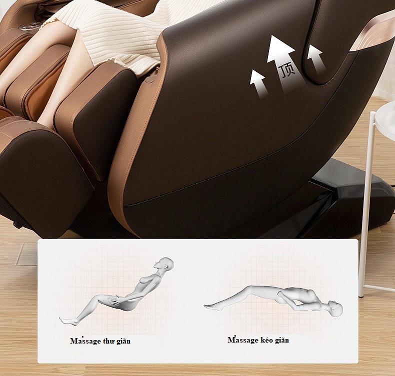 chế độ massage kéo dãn của Ghế massage toàn thân 4D KS 669