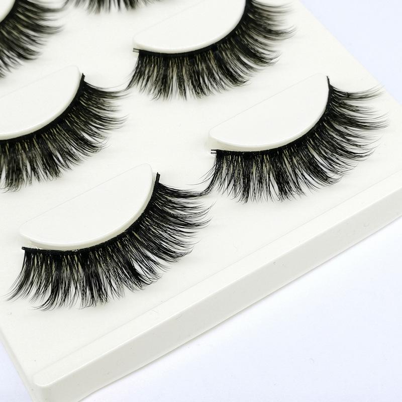 Lông mi giả lông chồn 3 Fashion Eyelashes 3 Faux-Cils 3D 1 bộ 3 cặp 99