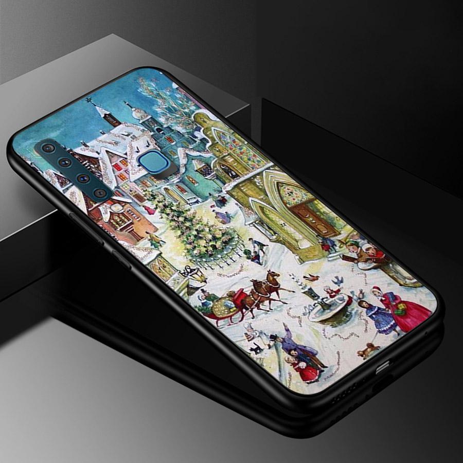 Ốp lưng cứng viền dẻo dành cho điện thoại Samsung Galaxy A20 - giáng sinh đầm ấm MS GSDA002
