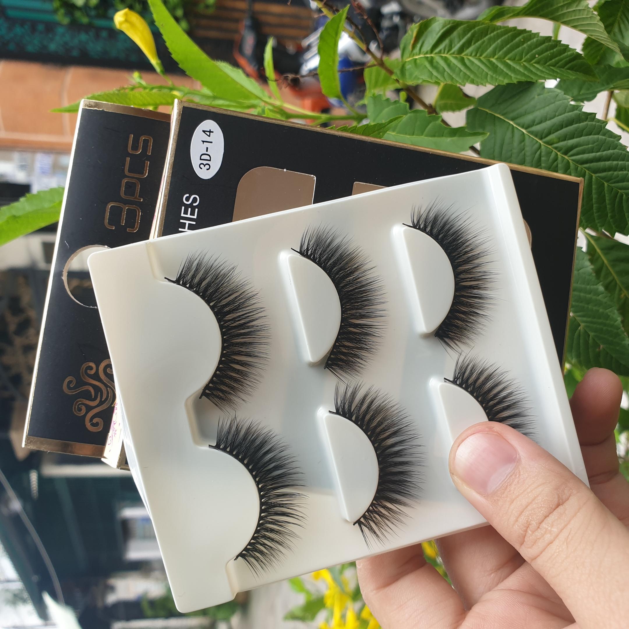 Lông mi giả lông chồn 3 Fashion Eyelashes 3 Faux-Cils 3D 1 bộ 3 cặp 56