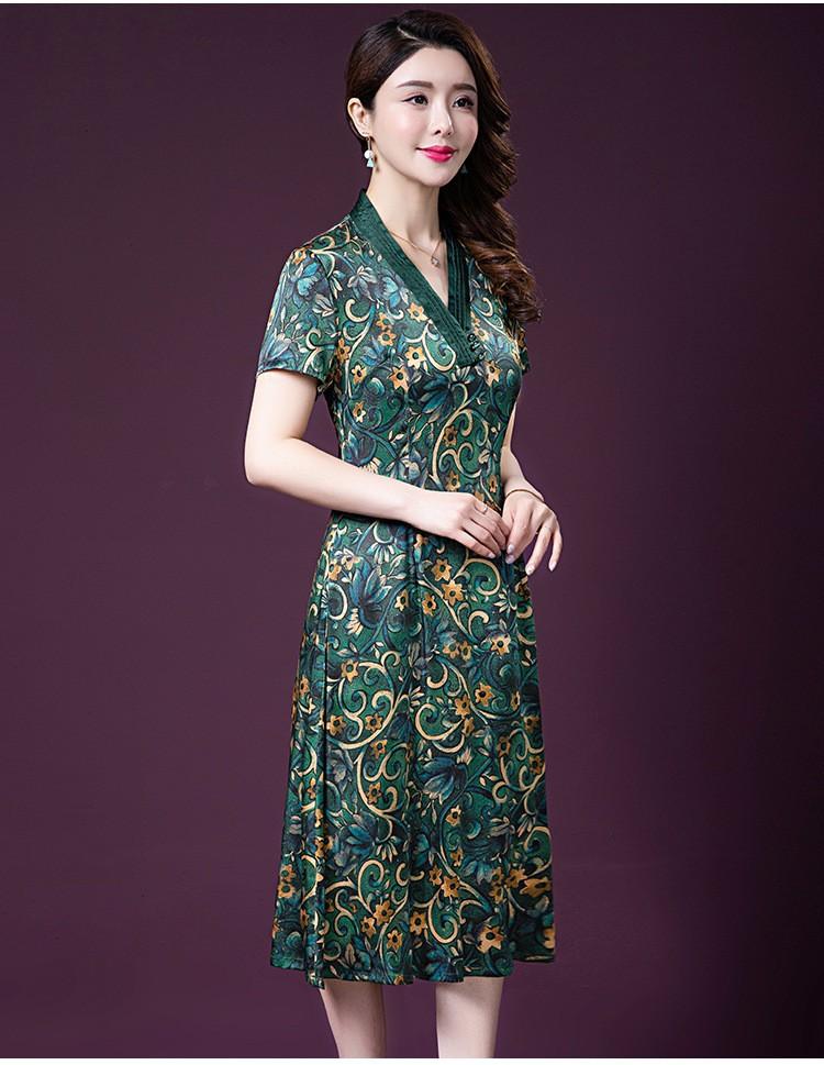 Đầm quý bà lụa Cao Cấp Sang Trọng - HATI DN9046 3