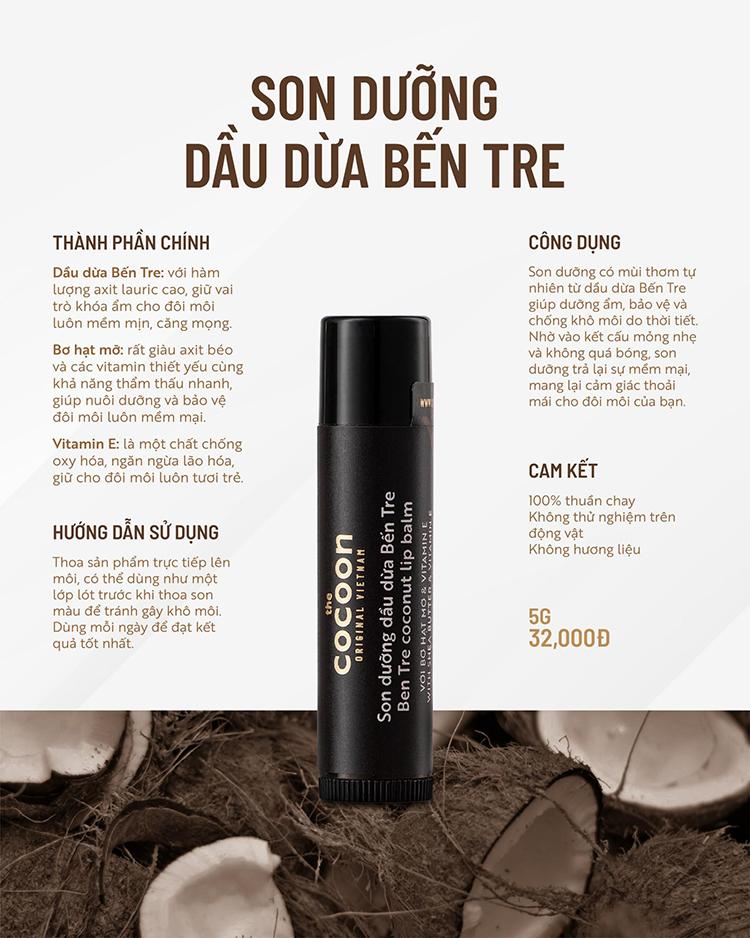 Son Dưỡng Dầu Dừa Bến Tre Cocoon 1
