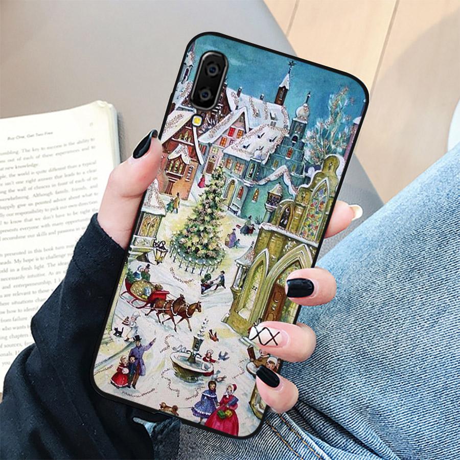 Ốp lưng cứng viền dẻo dành cho điện thoại Samsung Galaxy A50 - giáng sinh đầm ấm MS GSDA002