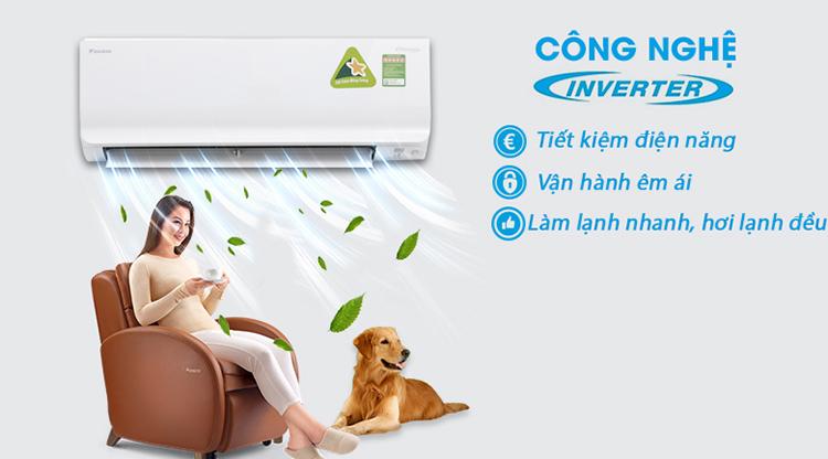 Máy Lạnh Inverter Daikin FTKC50UVMV/RKC50UVMV (2.0HP) - Hàng Chính Hãng 2
