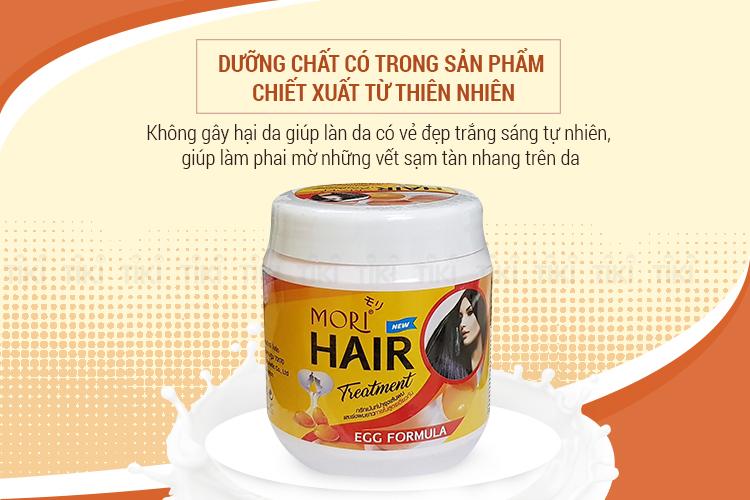 Kem Ủ Dưỡng Tóc Mori Vitamin E Và Trứng Mori Hair Treatment - Vitamin E & Egg (500ml)