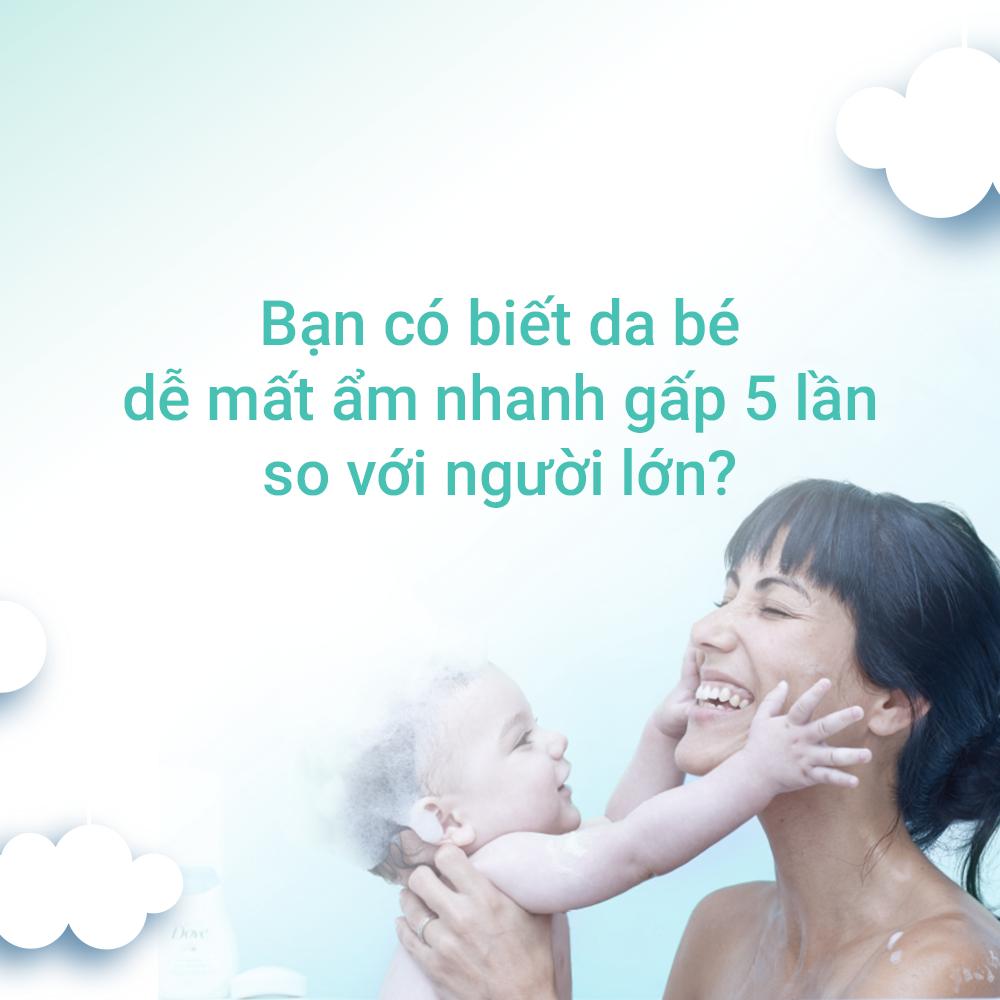 Combo Sữa Tắm Gội Toàn Thân Và Sữa Dưỡng Thể Baby Dove Cho Da Nhạy Cảm (400ml & 200ml)
