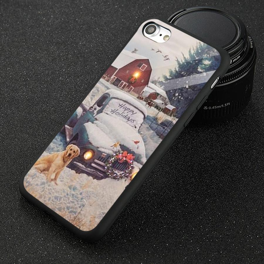 Ốp kính cường lực cho điện thoại iPhone 7 / 8 - giáng sinh đầm ấm MS GSDA007