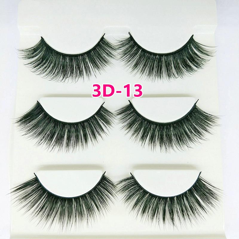 Lông mi giả lông chồn 3 Fashion Eyelashes 3 Faux-Cils 3D 1 bộ 3 cặp 50