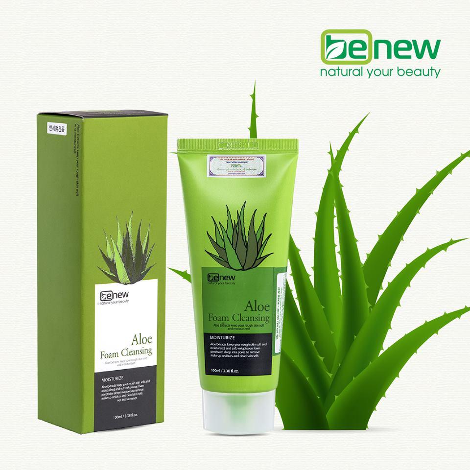 Combo Sữa rửa mặt Benew Aloe+Benew Mask Aloe