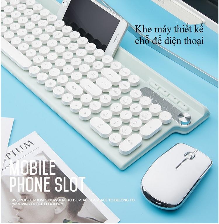 Bộ bàn phím và chuột không dây cao cấp -500 9
