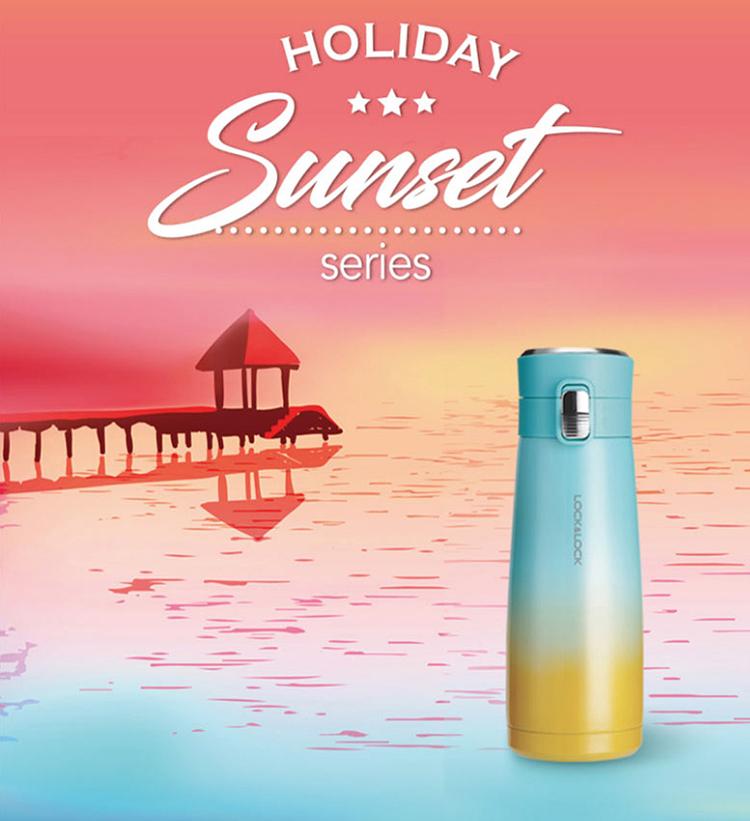 Bình Giữ Nhiệt Holiday Sunset I.d Tumbler Lock&Lock LHC3245 450ml (Không phủ ceramic)