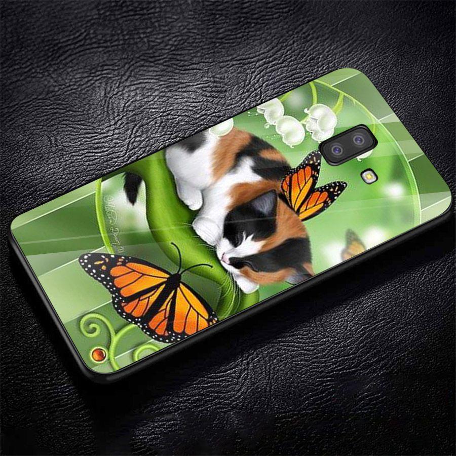 Ốp kính cường lực cho điện thoại Samsung Galaxy J6 - dễ thương muốn xỉu MS CUTE002