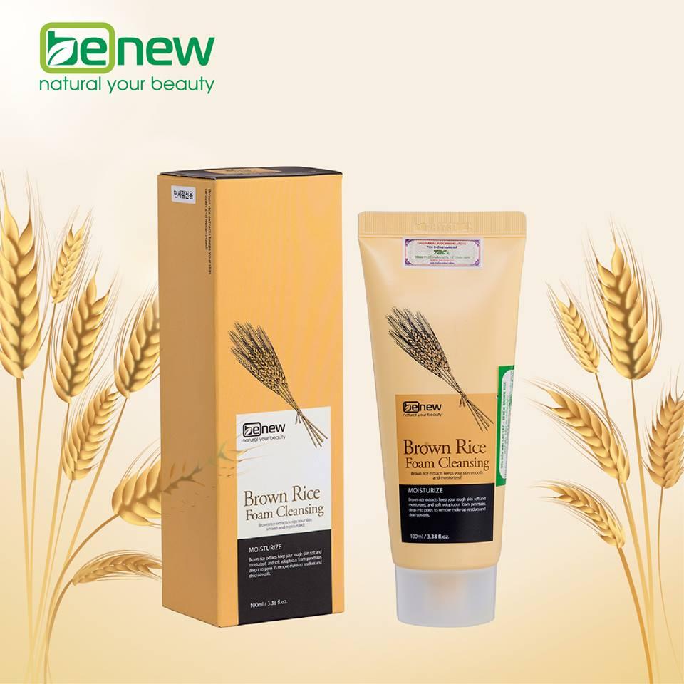 Combo Sữa Rửa Mặt Benew Brown Rice+Benew Mask Green Tea