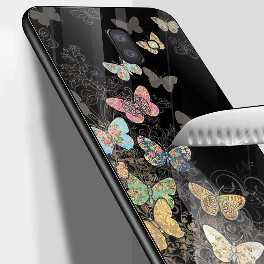 Ốp kính cường lực cho điện thoại Samsung Galaxy J4 - J6 - J6 PLUS - J6 PRIME - J8 - bướm đẹp MS ANH061