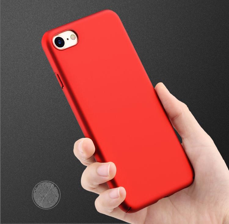 Bộ 4 Món - Ốp Lưng Cho iPhone 7/8 (Trong Suốt, Đen, Đỏ) + Miếng Dán Màn Hình - Freeson