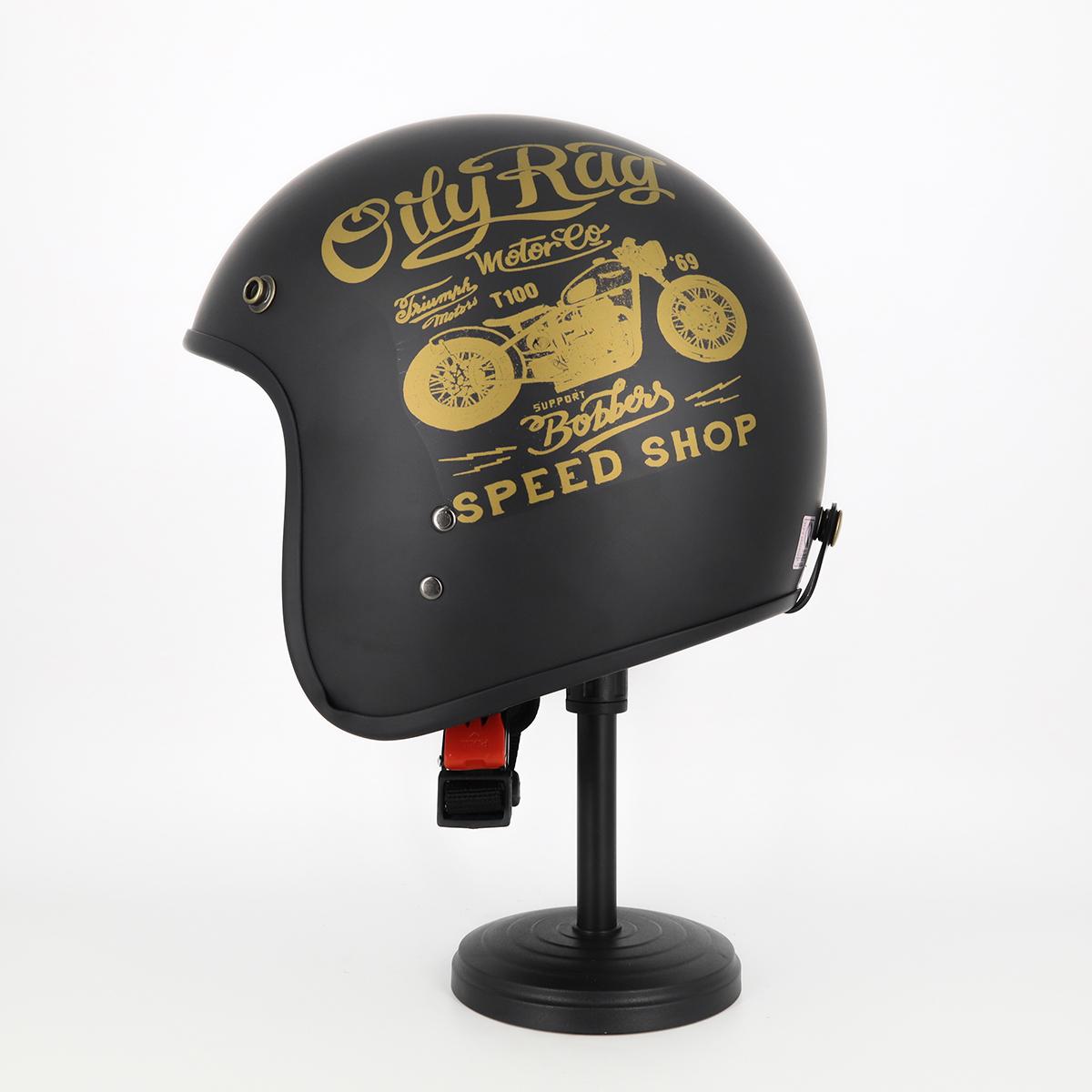 Mũ Bảo Hiểm 3 4 Đầu Tem Xe Cực Chất - Mũ Bảo Hiểm Chuyên Phượt Cao Cấp 1