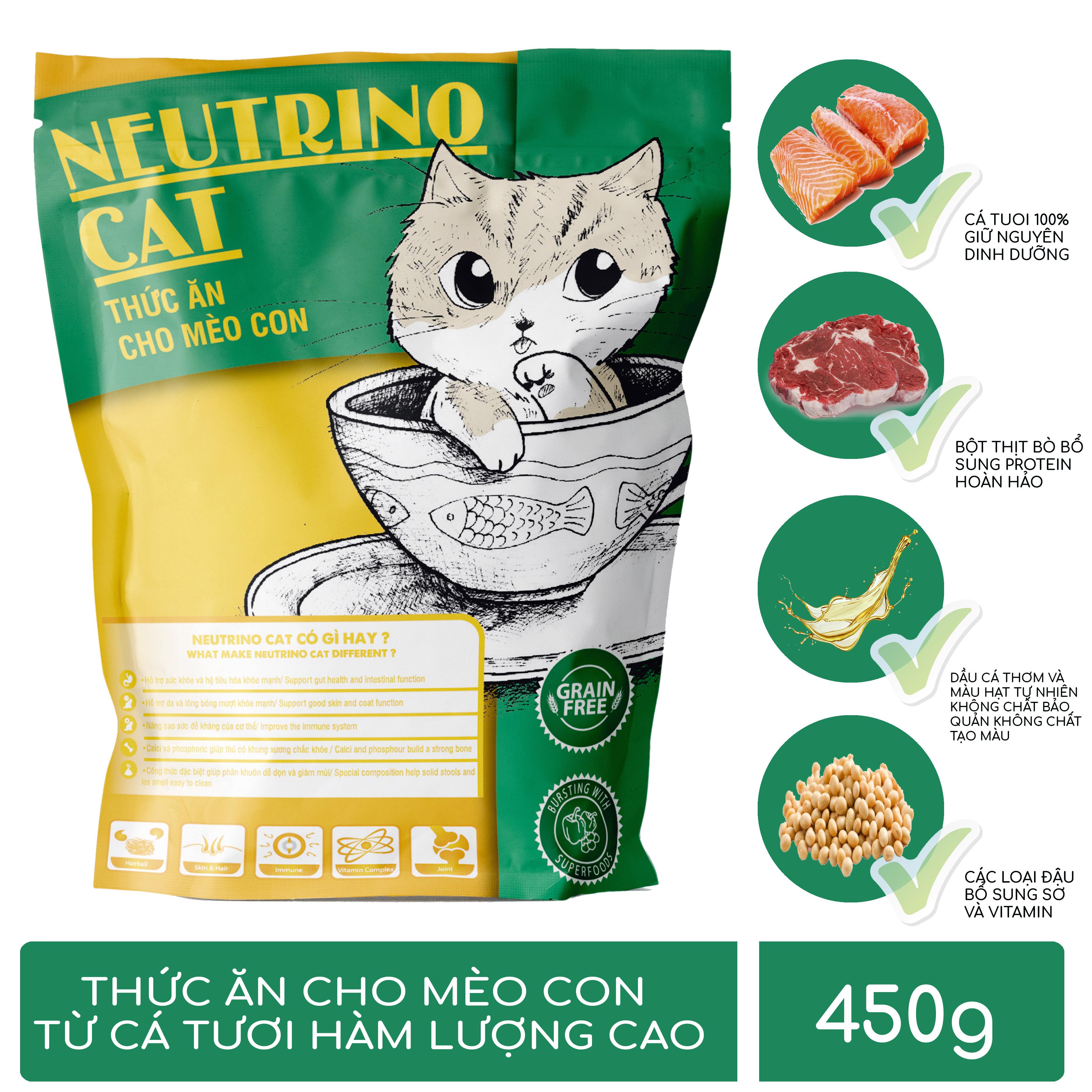Thức ăn cho Mèo con Neutrino Cat 3