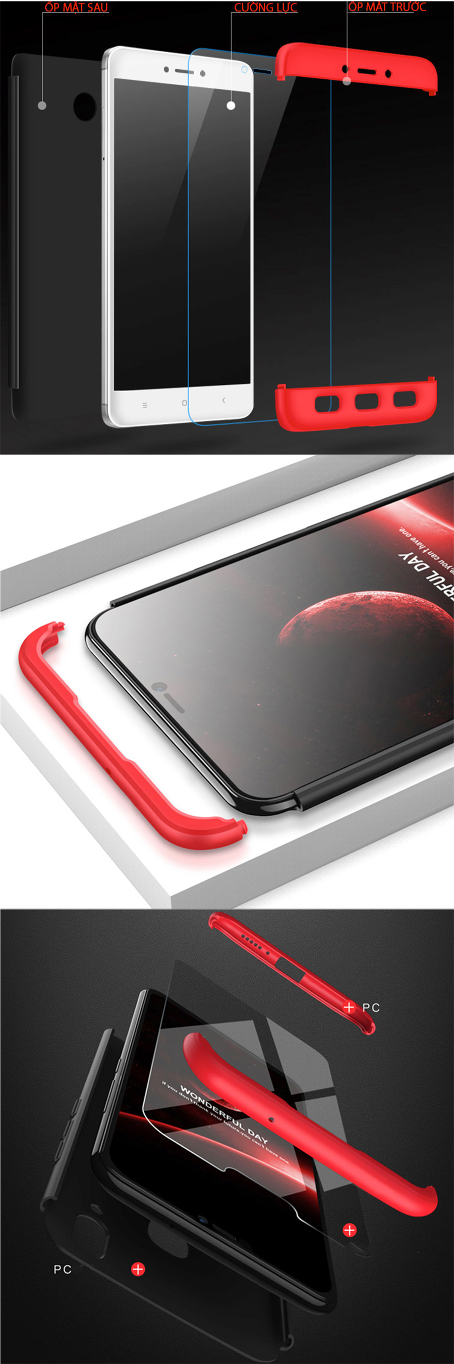 Ốp Lưng cho Xiaomi Redmi 4X Bảo Vệ 360 Điện Thoại