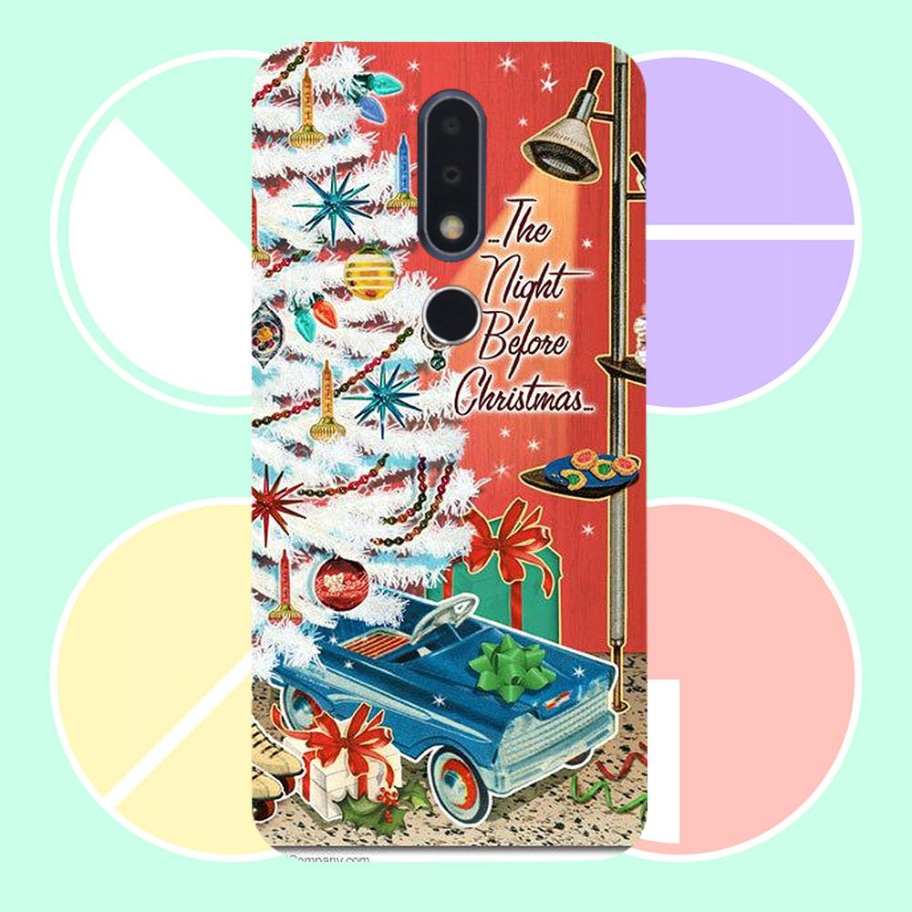 Ốp lưng cứng viền dẻo dành cho điện thoại Nokia 6.1 Plus - giáng sinh đầm ấm MS GSDA019