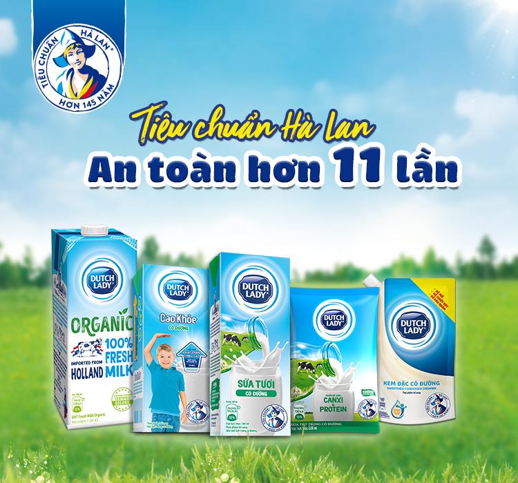 Thùng 48 Hộp Sữa Tươi Tiệt Trùng Dutch Lady Có Đường (48X180ml)
