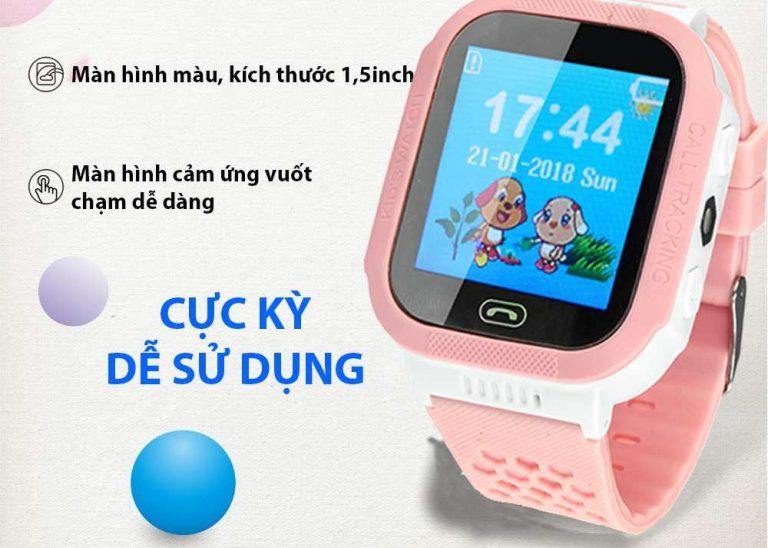 đồng hồ định vị cho bé màn hình cảm ứng