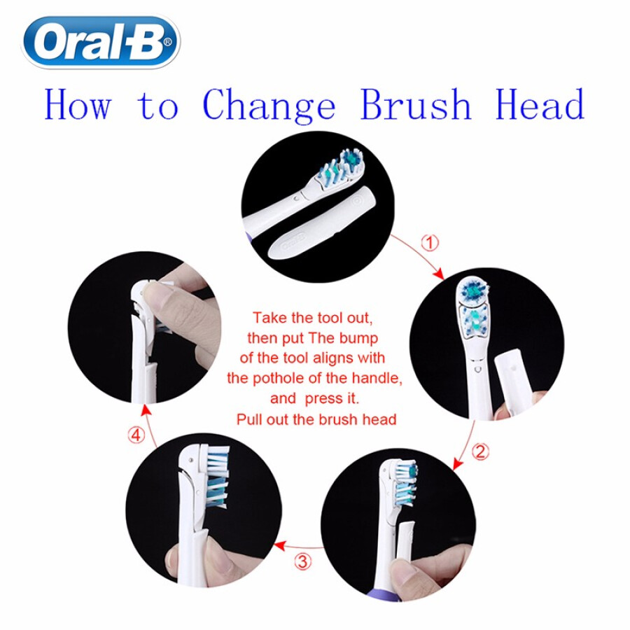 Oral B Electric Toothbrush Dual Clean Deep Clean Teeth Brush AA Battery Non-Rechargeable Brush Heads Gift