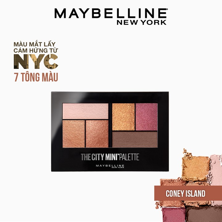 Bảng Phấn Mắt Maybelline New York 6 Màu The City Mini Palette 6.1g |  Maybelline Official Store | Tiki