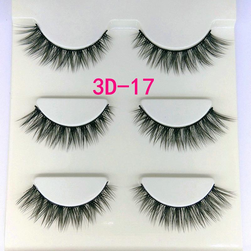 Lông mi giả lông chồn 3 Fashion Eyelashes 3 Faux-Cils 3D 1 bộ 3 cặp 66