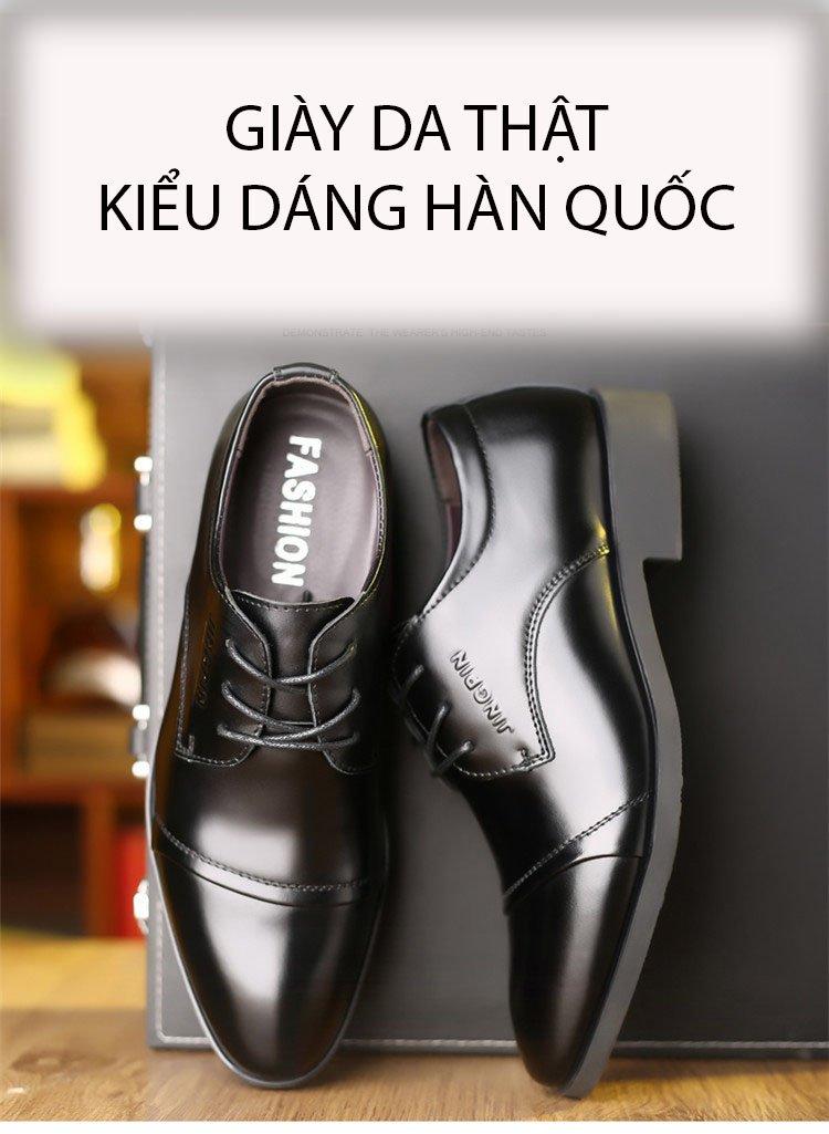Giày da thật nam giày da nam cao cấp giày nam công sở sang trọng, phong cách thời trang giày da cao cấp giày nam mẫu mới mã 8867-A 8