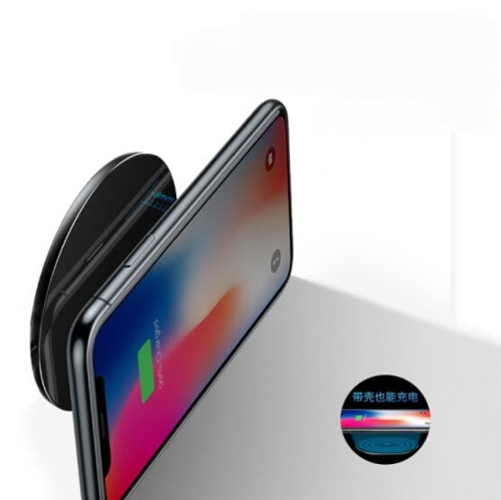 Baseus iPhoneX wireless charger for Apple x/iPhone8/8plus mobile phone fast charge Samsung S9/S8/S7 edge universal charging base exploration version black