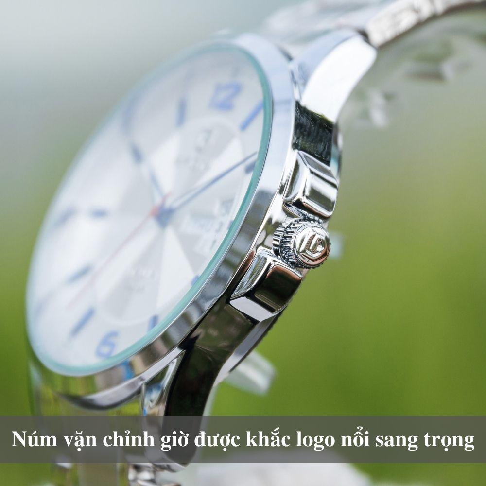Đồng hồ nam PAGINI PA5533W dây thép không gỉ - Lịch ngày cao cấp 9