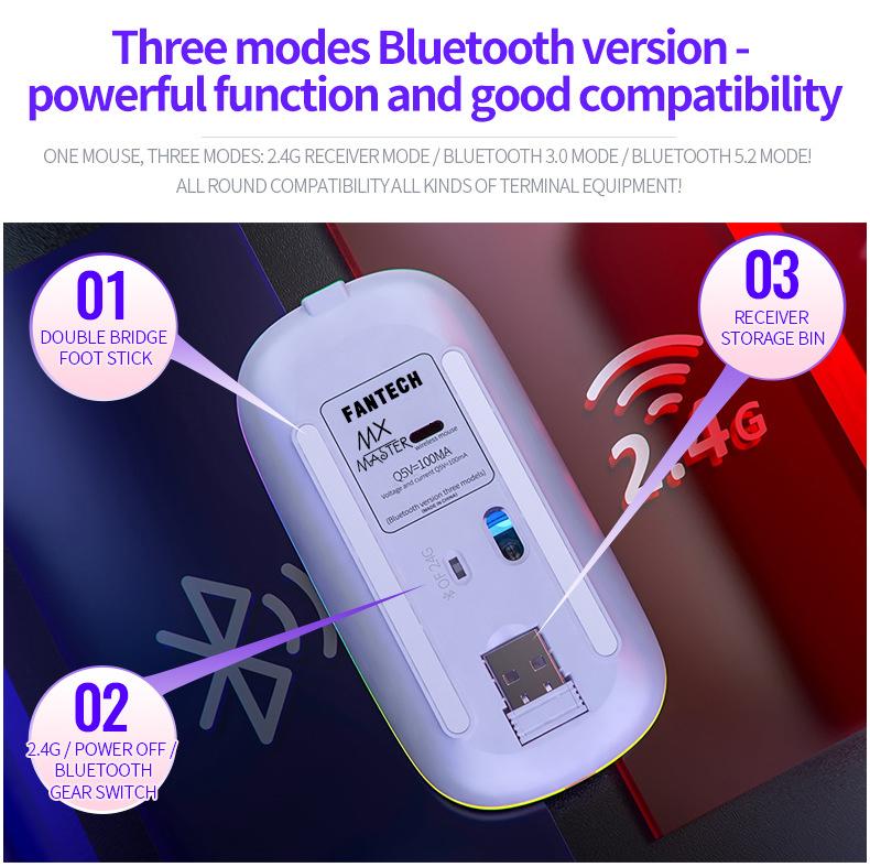 Chuột Wireless Fantech MX Master (Cổng sạc MICRO USB - Có Thể Sạc Lại) - Hàng Chính Hãng VN A 11
