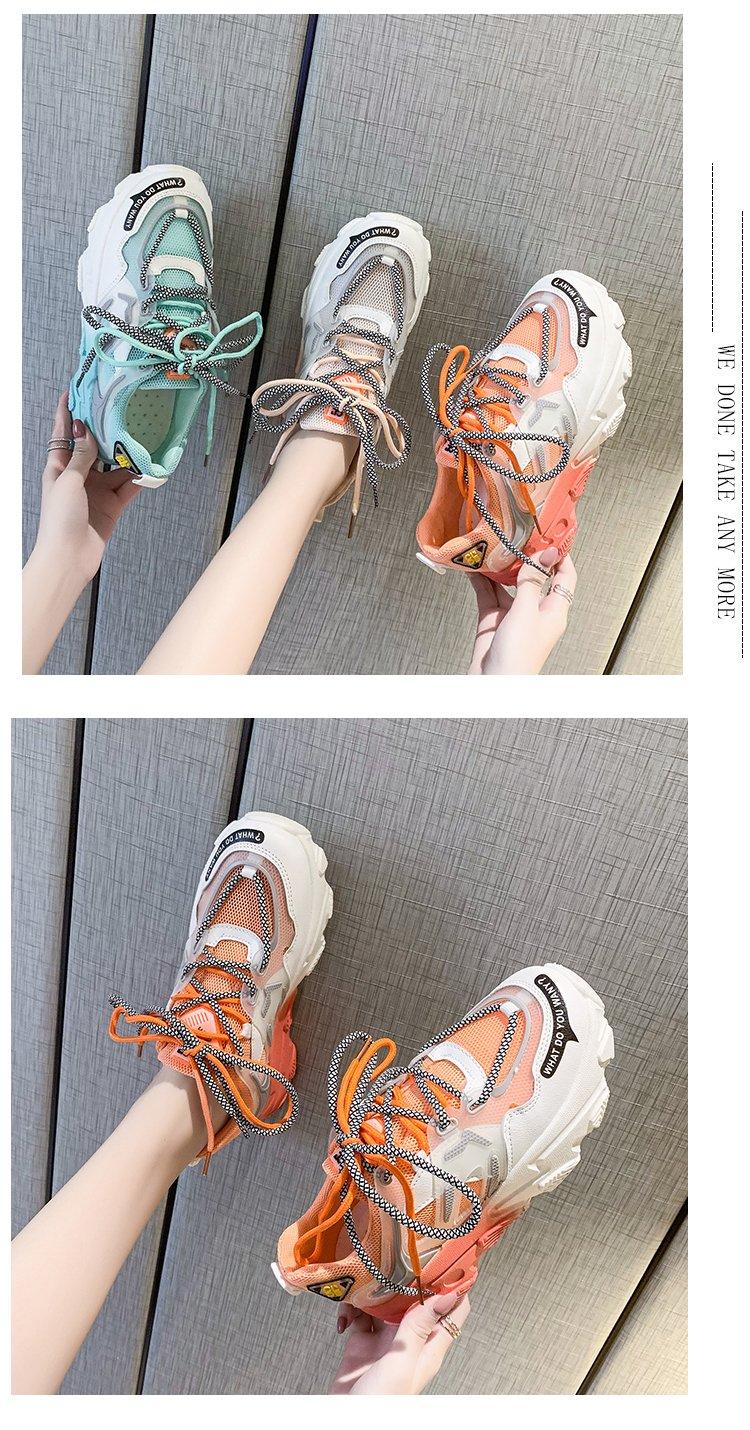 Giày thể thao nữ, giày sneaker nữ lưới đế 3 màu thời trang Hàn Quốc 5