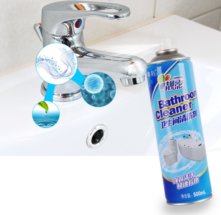 Chai xịt bọt tuyết đánh bay vết bẩn, vết ố vàng cứng đầu nhất dùng cho nhà tắm, nhà vệ sinh- 500ml