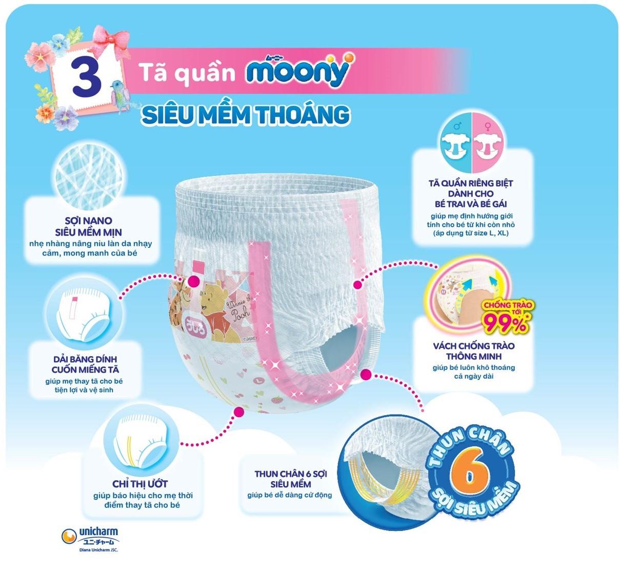 Tã Quần Moony Bé Trai Gói Đại - XXL (26 Miếng)
