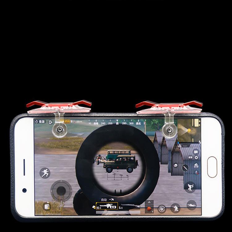 Bộ 2 Nút Chơi Game Pubg Mobile, Ros, Cf Dòng E9 Trong Suốt (Đỏ Hoặc Bạc) 12