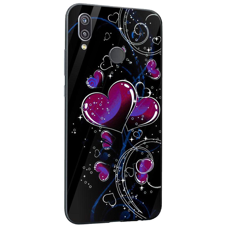 Ốp kính cường lực cho điện thoại Huawei NOVA 3E/P20 LITE - trái tim tình yêu MS LOVE079