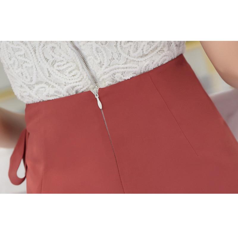 Chân váy công sở đẹp Louro L702, dáng thiên chữ A, mẫu chân váy cách điệu xếp ly buộc nơ eo, cạp cao tôn dáng che bụng hiệu quả 9