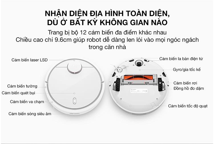 e1cd375dba450b9bb3e86e374cad561f Robot Hút Bụi Xiaomi SKV4022GL Mi Robot Vacuum - Hàng Chính Hãng